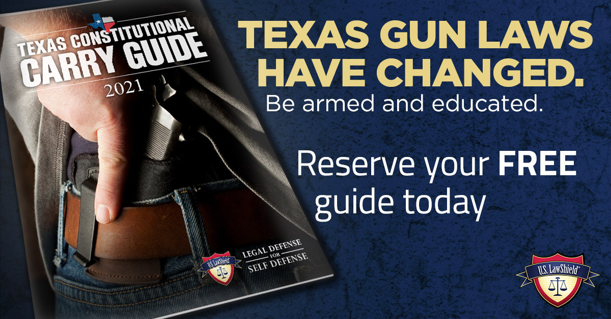 For Texans celebrating the recent passage of Constitutional Carry in the Lone Star State, U.S LawShield offers this free guidebook.