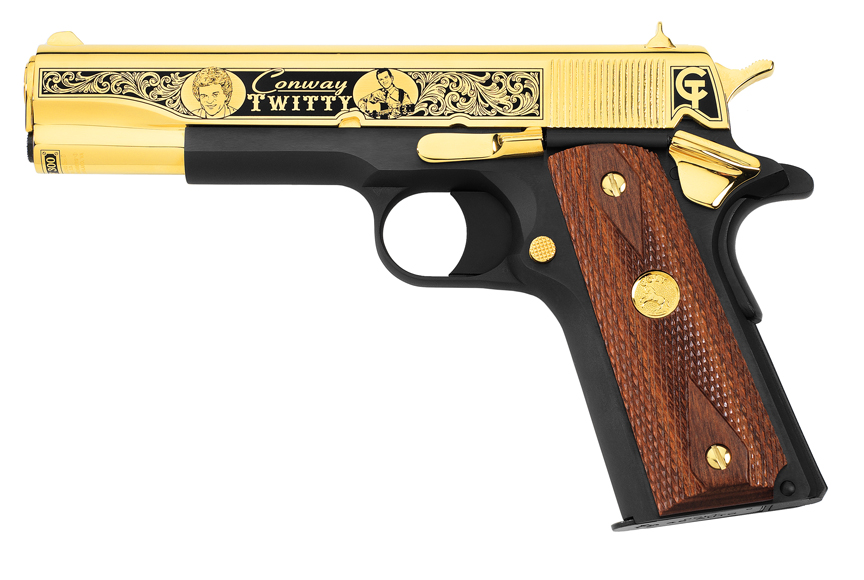 And now, ladies and gentlemen, Mr. Conway Twitty's Tribute Pistol.