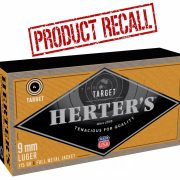 On the heels of a recent Winchester and Browning-branded 9mm recall, now certain lots of Herter's ammo have been added to the list.