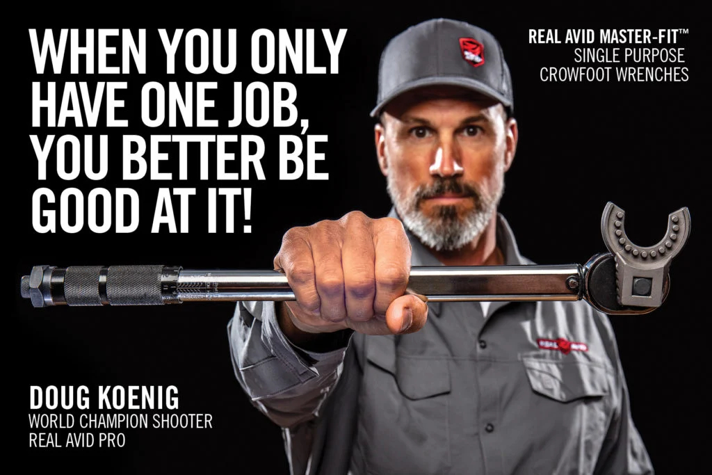 Real Avid's MASTER-FIT kits are endorsed by professional shooter Doug Koenig, who is a highly successful competitor as well as hunter and outdoorsman.