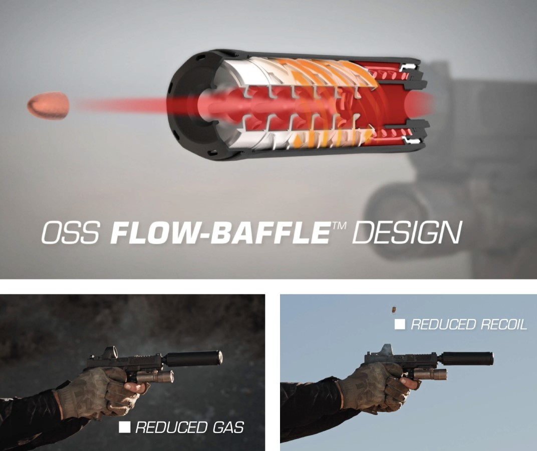 OSS just announced their first handgun silencers earlier this year, the RAD 9 and RAD 45 models.