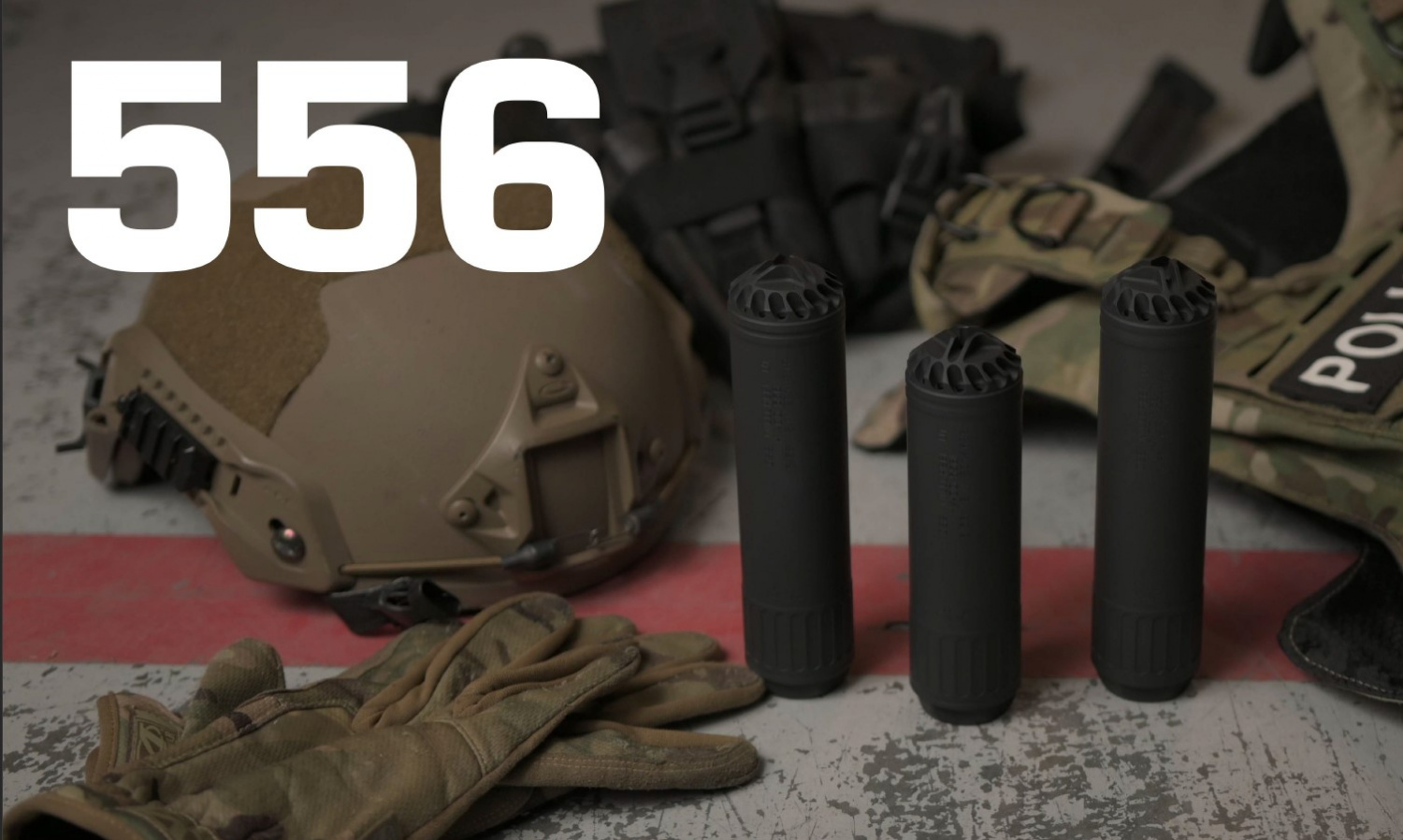 You might find some HX-QD 556 cans like these on some SWAT officers' rifles in one of Centrifuge's training courses.