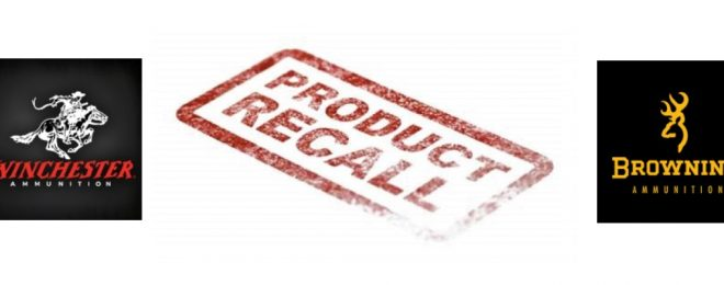 Certain lots of Winchester and Browning 115gr 9mm ammo have been recalled for safety.