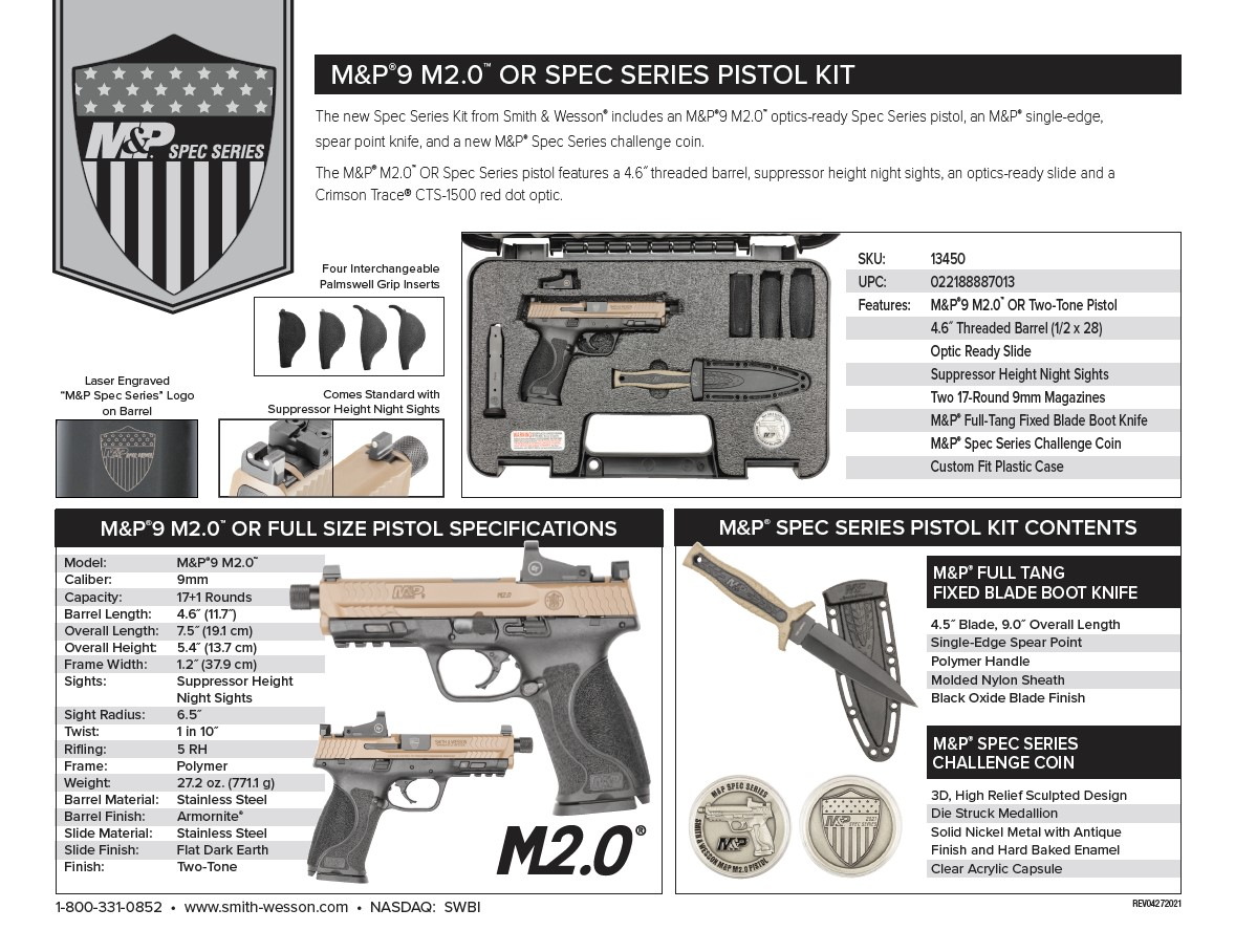 Check out all the specs on Smith & Wesson's new Spec Series Kit!
