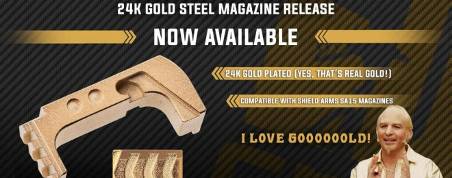 Tyrant Designs Unveils 24k Gold Glock 43x/48 Mag Release