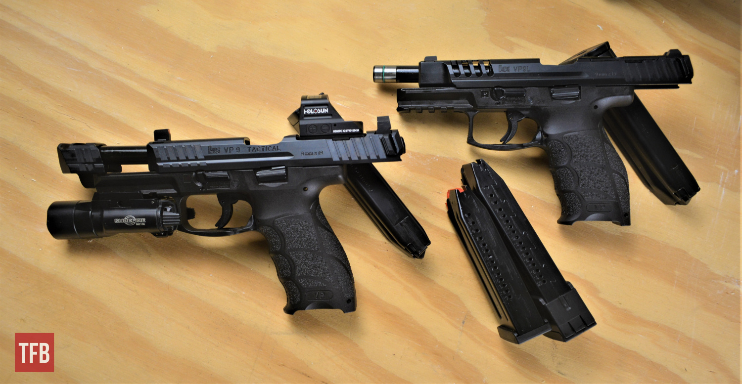 The two VP9 versions I tested for this review update were the Tactical model and the L, or long-slide model.