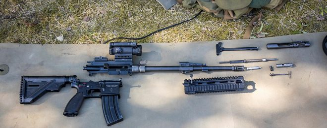 POTD: Disassembled HK416 from The Norwegian Armed Forces