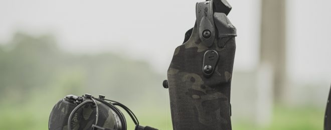 New Multicam Black Hearing Protection and Holsters from Safariland