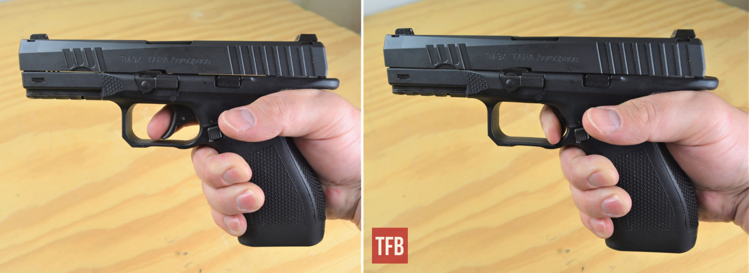 This visual demonstration should give you an idea about the length of the TM-9 trigger's full double-action mode.