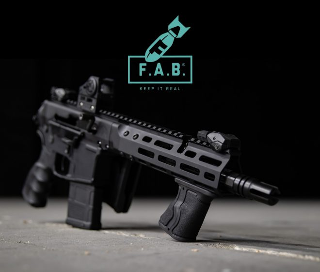FAB Defense introduces their new Gradus-M foregrip (shown here) and GL-Core M buttstock.
