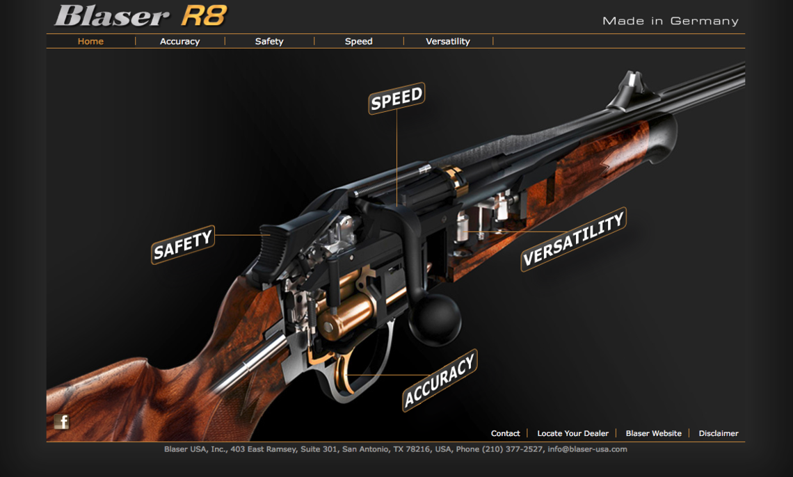 New R8 Straight Pull Rifle in 6.5 PRC from Blaser Group
