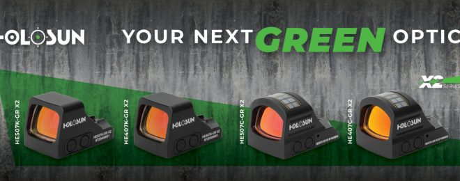 Holosun Optics has announced new green reticle options for their line of small reflex sights.