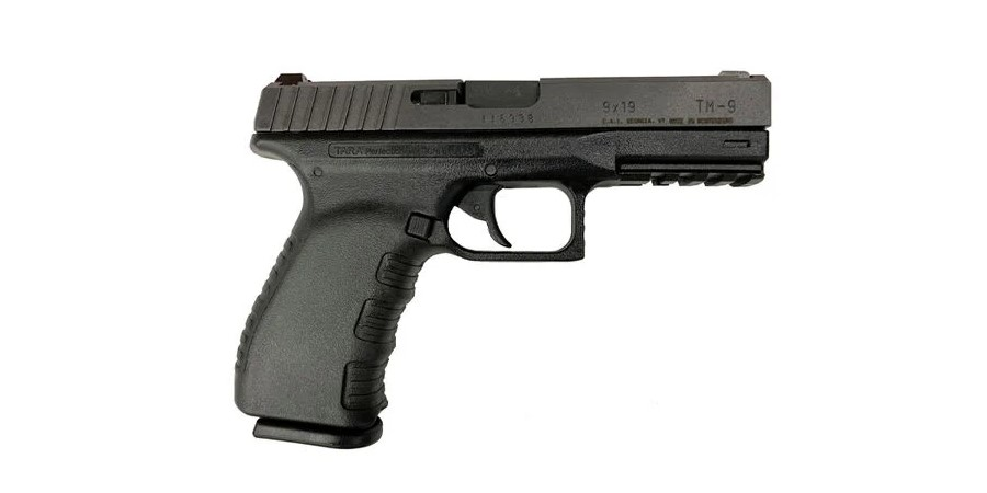 Older generations of the TM-9 can be most readily distinguished by their lack of the current version's patterned grip texture, and the inclusion of finger grooves.