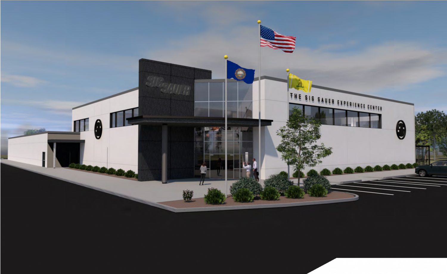 This is what the SIG SAUER Experience Center should look like once construction has been completed.