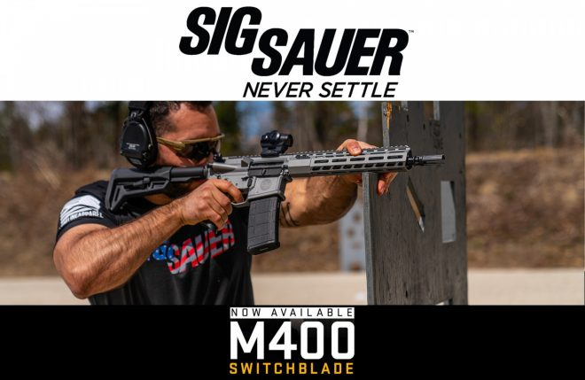SIG SAUER has added a new model to their M400 AR series: the Switchblade.