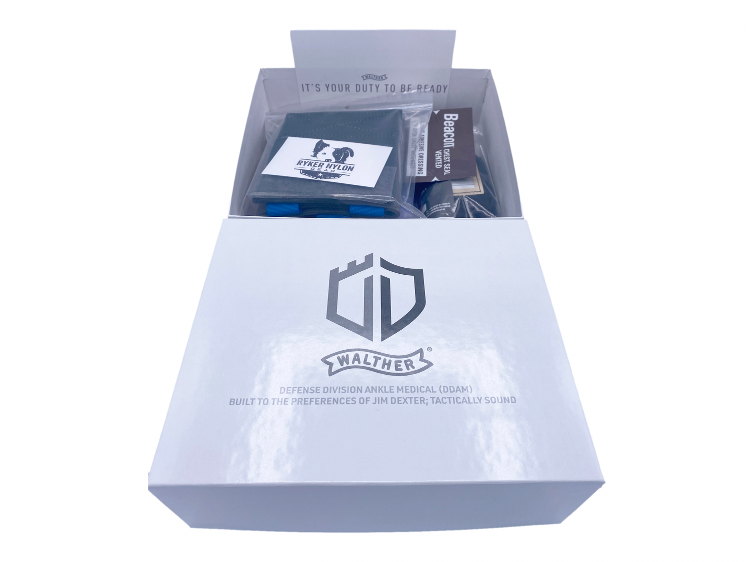 This ankle kit's package includes not only a well thought-out collection of medical gear, but also access to some introductory training videos on how to properly use it.