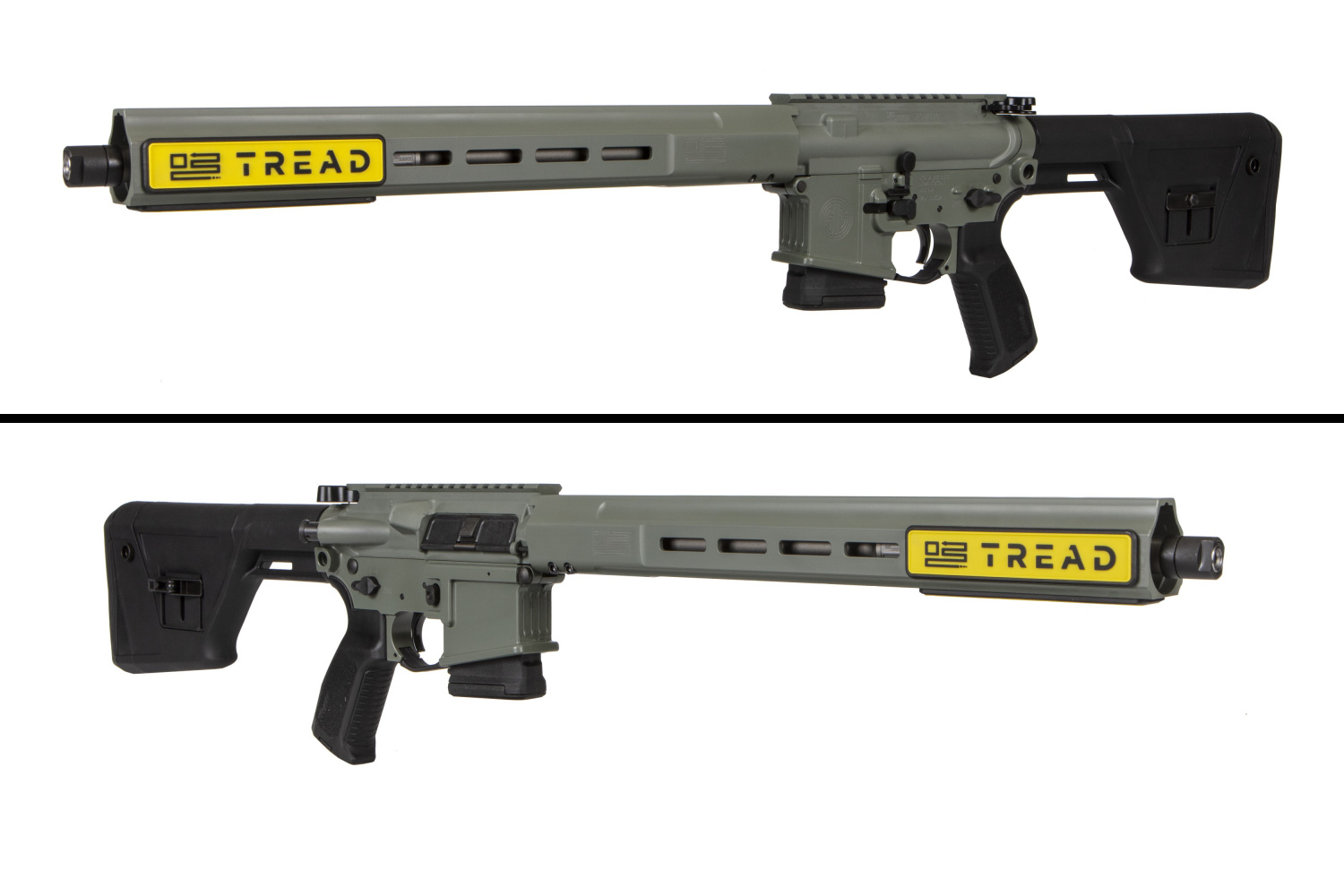 """A better look at the Predator, with its 16"""" barrel inside the atypically squared-off all-MLOK handguard."""