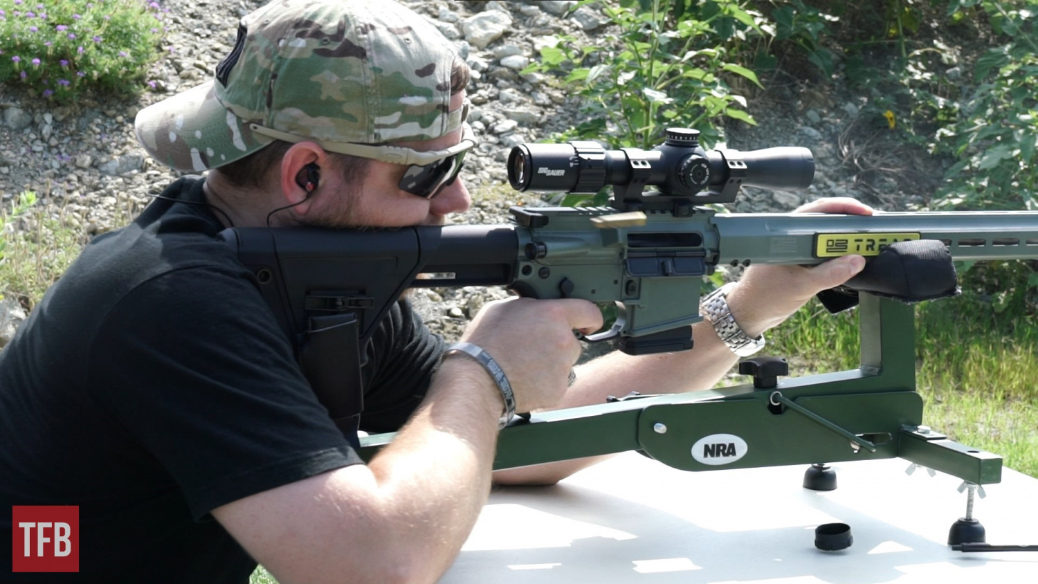 Zeroing the SIERRA3BDX 2.5-8x32mm scope that SIG sent along with the rifle for our testing purposes.