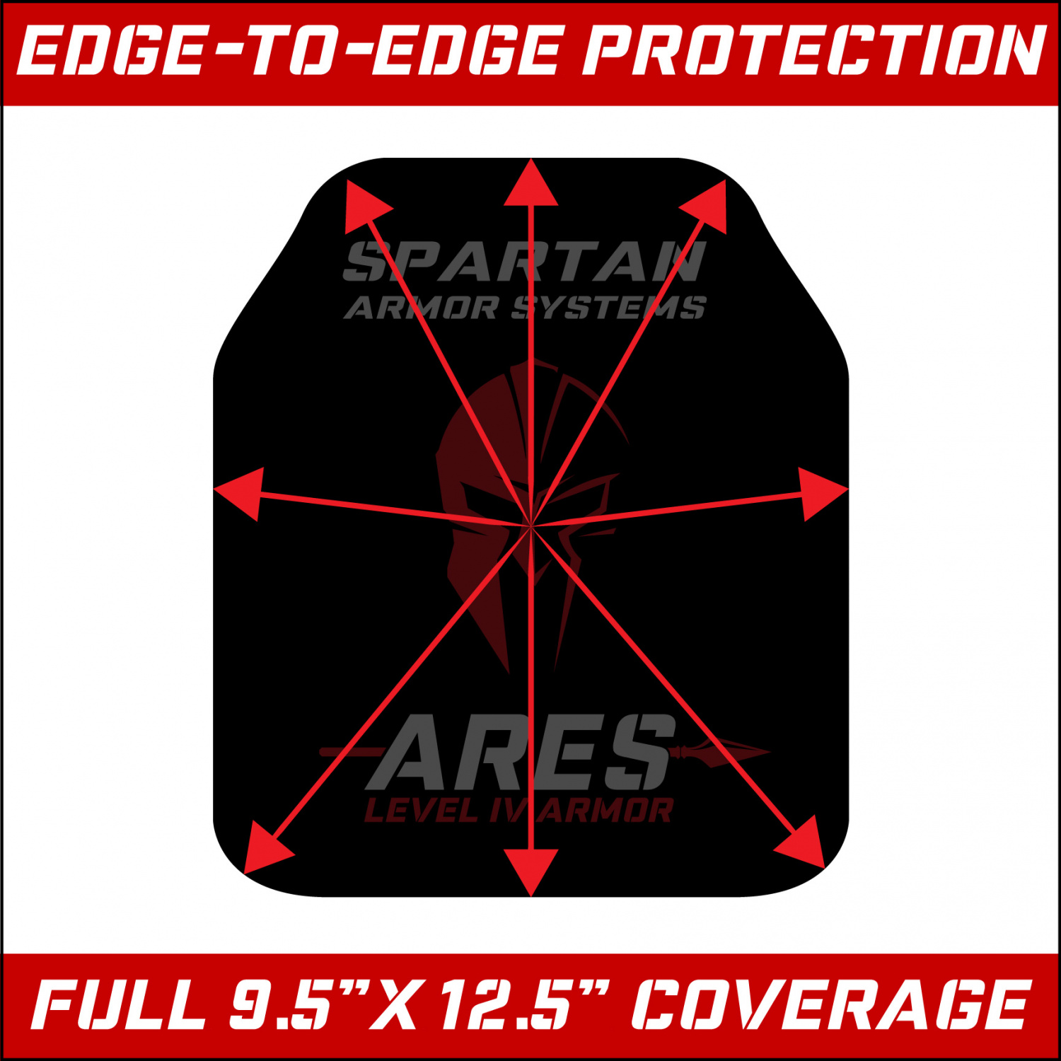 The size and shape of the Ares is meant to closely replicate military ESAPI plates, and provide compatibility with the majority of plate carrier options.