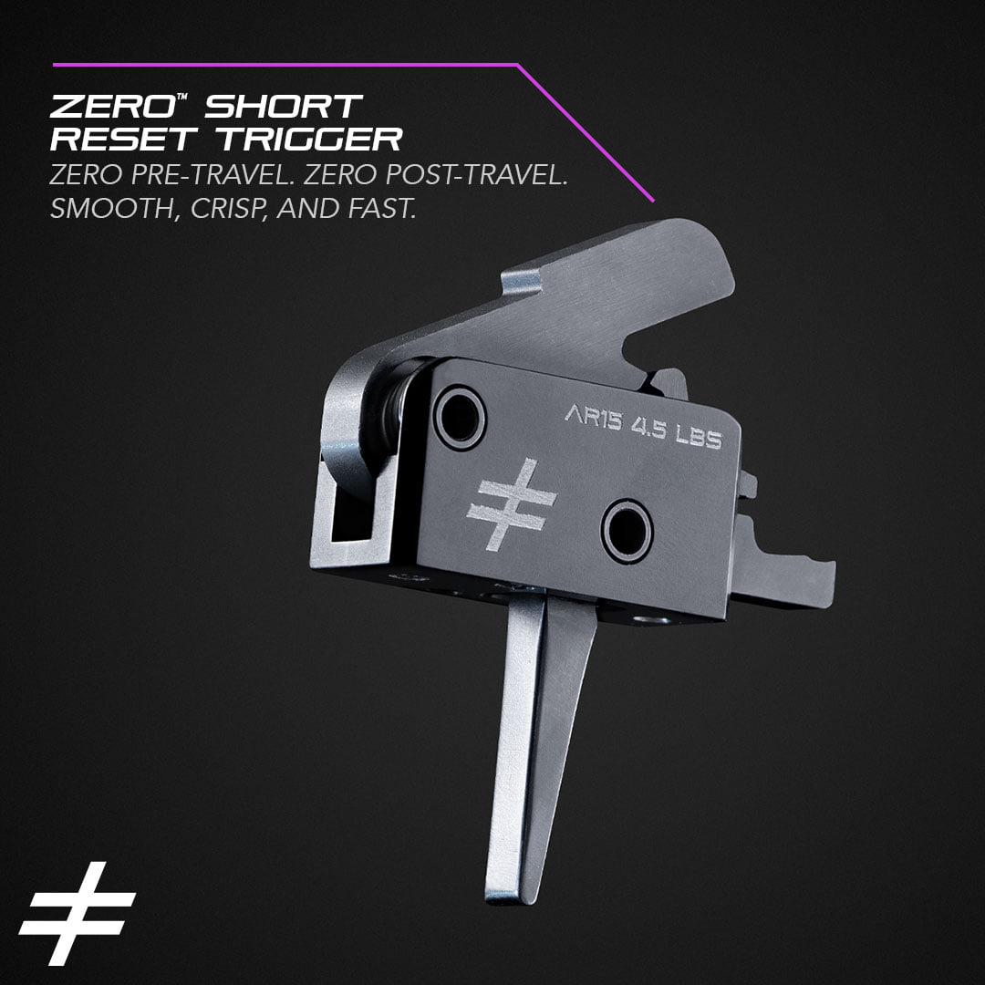 """Blackout calls these """"Zero"""" because they're designed to have """"zero"""" of the normal pre- and post-travel actuation you've come to expect from a traditional AR trigger."""