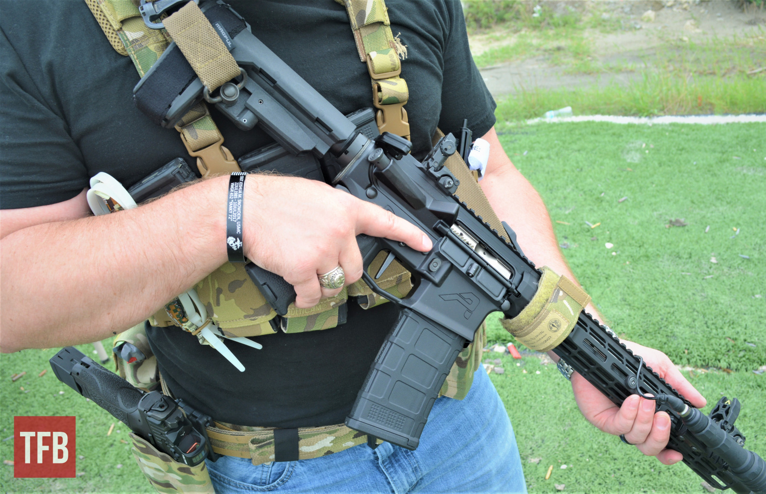 One of the demo Zero Triggers installed and ready to begin live-fire testing at the range.