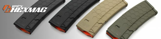 Hexmags have been available with standard polymer construction for several years, but now there's a new carbon fiber option as well.