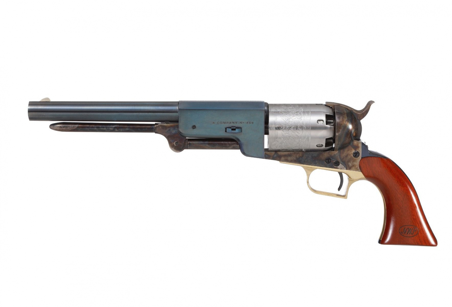 """The """"Lonesome Dove"""" Colt Walkers feature 9"""" barrels, and carry an MSRP of $739.70 apiece."""