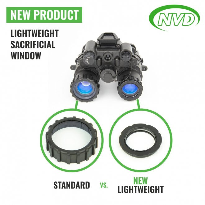 Night Vision Devices has announced a new lighter and more streamlined sacrificial window for your favorite NODs.