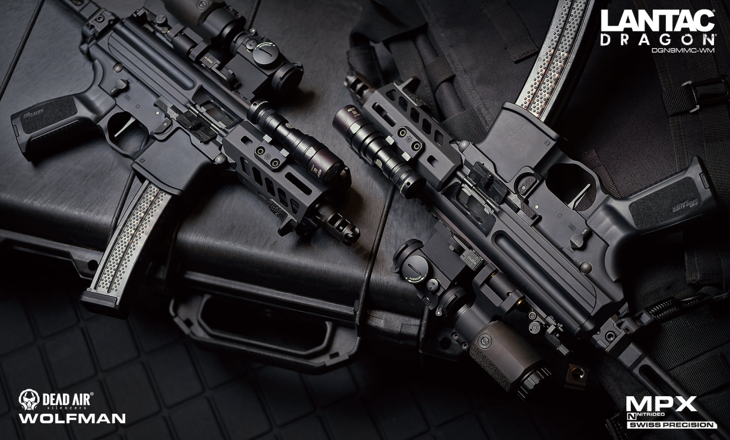 New Lantac Dragon Muzzle Brake with Dead Air KEYMO Mounting System