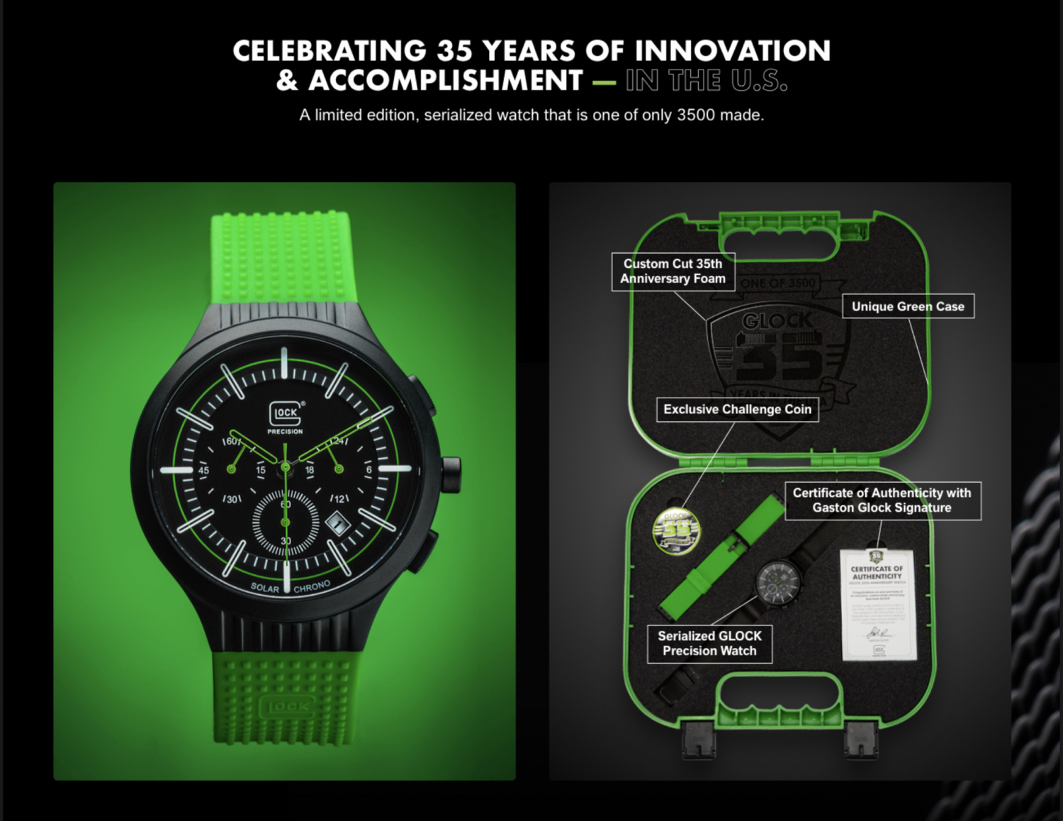 35th Anniversary GLOCK Watch - Limited Release Precision Timepieces