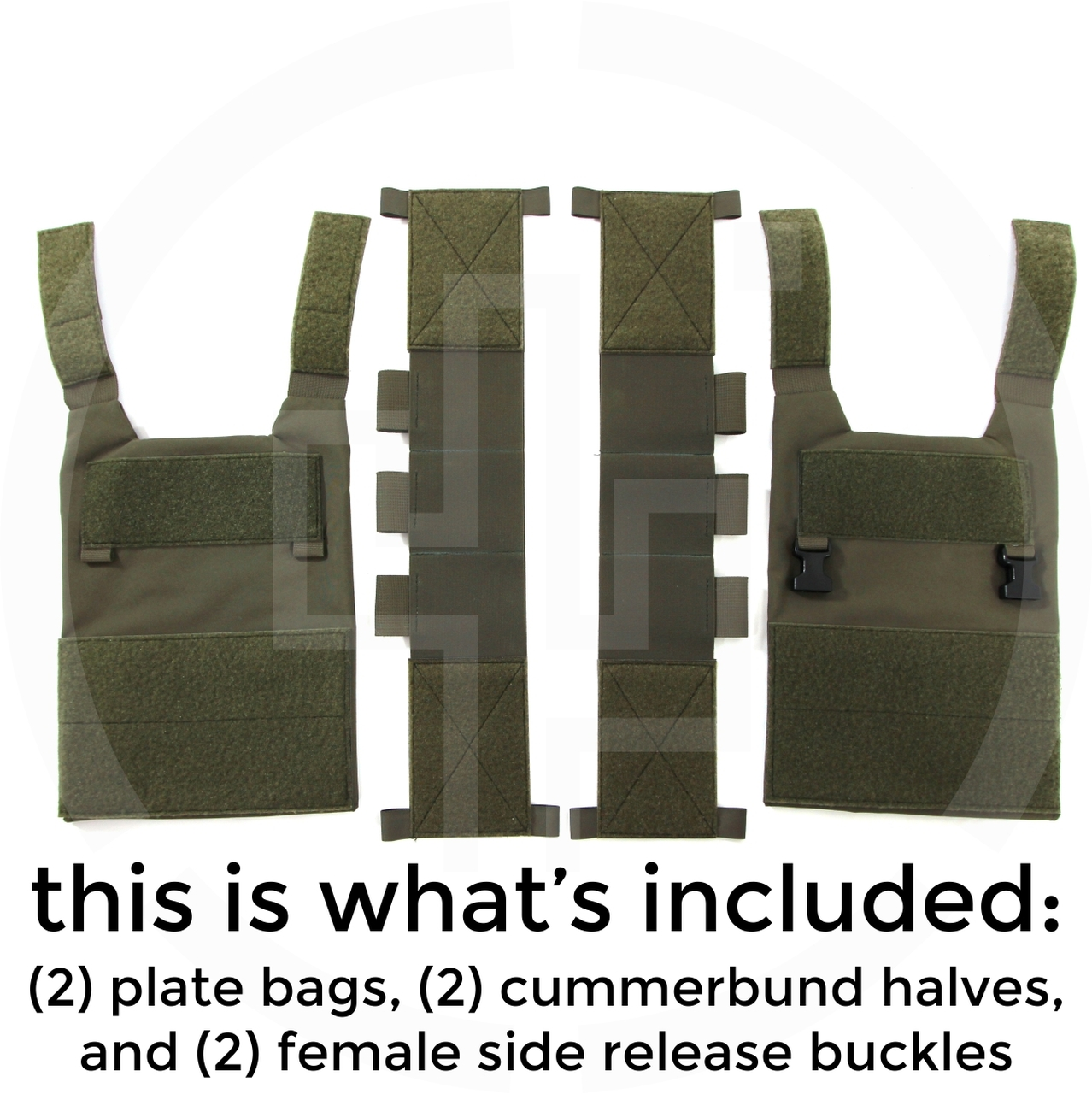 Plate Carrier 13 Specifications: Weight: 15.7 ounces with Cummerbund Plate Compatibility: SAPI, 10x12, Hoplite,Hesco 3810, L210 RMA 1092 RMA 1155 Included Pieces: Front and Rear Plate Bags and Two Cummerbund sections