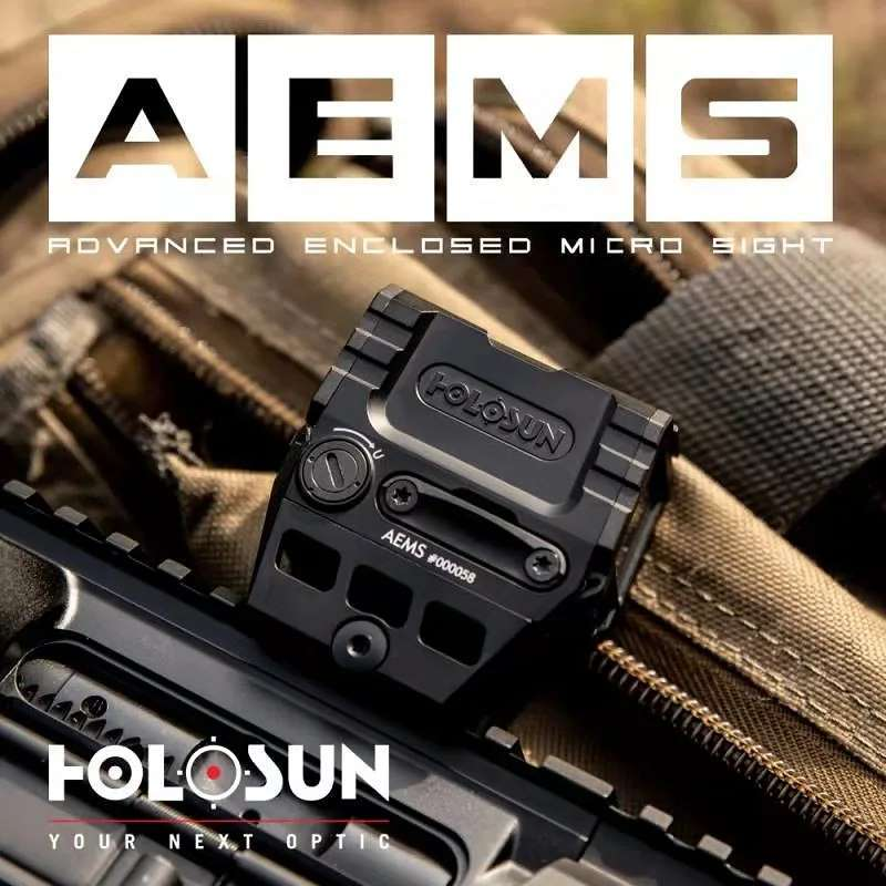 The AEMS will ship with this pictured mount included, and runs on a side-mounted CR2032 battery with solar backup, advertised at 50,000 hours of runtime.