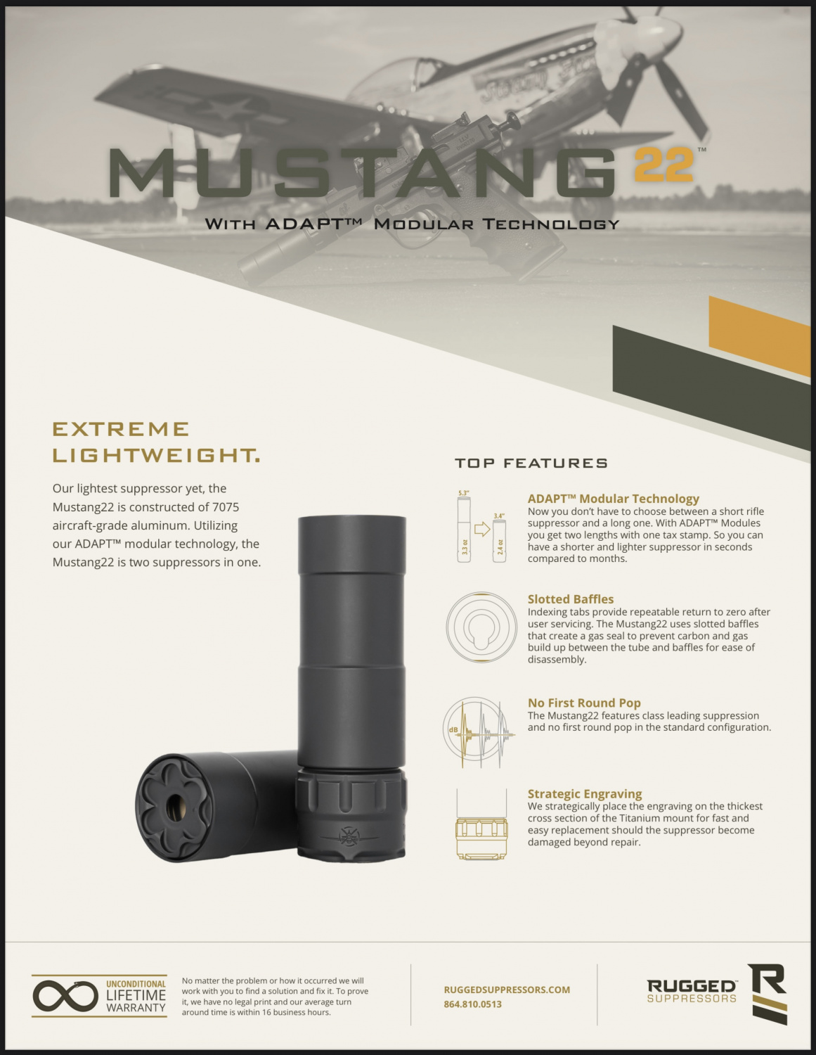 New Release: The Rugged Mustang Modular .22LR Suppressor
